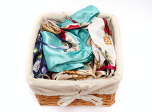 Clothes-basket Stock Photo