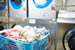 Clothes in basket Stock Photography