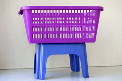 Clothes basket Stock Images