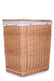 Clothes basket with straw Royalty Free Stock Image