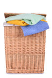 Clothes basket with towels Stock Photography