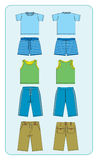 Clothes for boys Stock Images