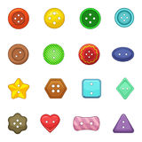 Clothes button icons set, cartoon style Stock Image