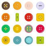 Clothes button icons set in flat style Royalty Free Stock Images