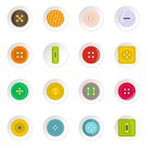 Clothes button icons set in flat style Stock Images