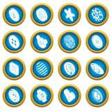 Clothes button icons set, simple style. Clothes button icons set. Simple illustration of 16 clothes button icons set vector icons for web Royalty Free Stock Image