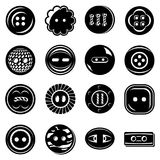 Clothes button icons set, simple style Royalty Free Stock Images