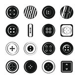 Clothes button icons set, simple style Royalty Free Stock Photography