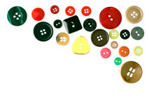 Clothes buttons, assorted isolated on white Stock Images