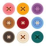 Clothes Buttons Collection. Vector File EPS10 Stock Image