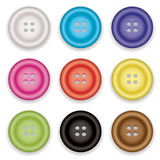Clothes buttons icons Royalty Free Stock Photography