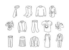 Clothes bw Stock Images