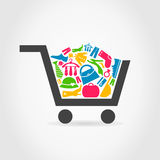 Clothes a cart Royalty Free Stock Image