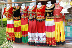 Clothes of Chinese Yi minority Royalty Free Stock Image
