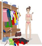 Clothes choice Royalty Free Stock Images