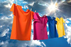 Clothes cleaning Stock Photos