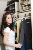 Clothes in closet Royalty Free Stock Photos