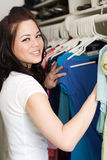 Clothes in closet Stock Image