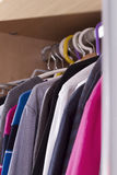 Clothes in the closet on a hanger Stock Photo