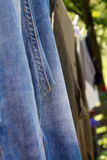 Clothes on clothesline Royalty Free Stock Photo