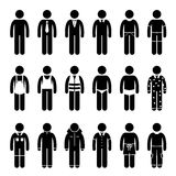 Clothes Clothing Attire for Different Occasions Clipart Stock Photos
