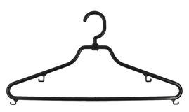 Clothes coat hanger isolated Stock Photo