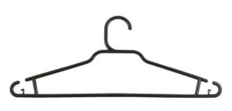 Clothes coat hanger isolated Stock Image