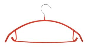 Clothes coat hanger isolated Stock Photography