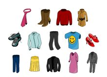 Clothes colorful Royalty Free Stock Photo