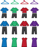 Clothes Colors Royalty Free Stock Photos