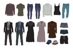Clothes colour Stock Photos