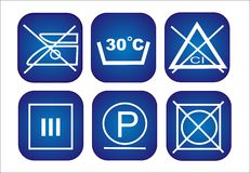 Clothes conservation icons set Royalty Free Stock Image