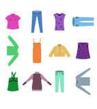 Clothes design Stock Images
