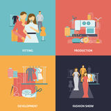 Clothes design icons set Royalty Free Stock Photo