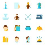 Clothes designer icon flat Stock Photography