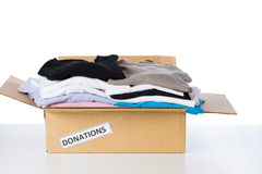 Clothes donation box Royalty Free Stock Images