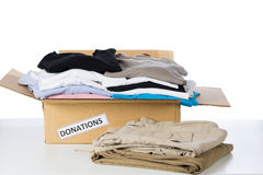 Clothes donation box Stock Photography