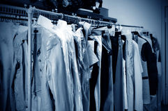 Clothes dry cleaners Royalty Free Stock Photos