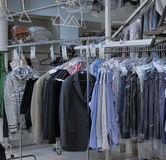 Clothes dry cleaning Stock Photography