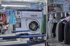 Clothes dry cleaning Stock Images