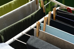 Clothes drying Stock Image