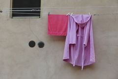 Clothes drying dip Royalty Free Stock Image