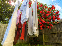 Clothes are drying Royalty Free Stock Images