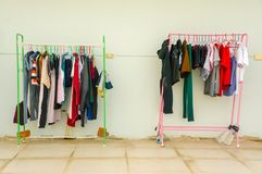 Clothes drying after washed