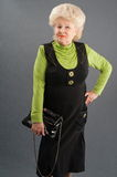 Clothes of the elderly lady. Royalty Free Stock Images
