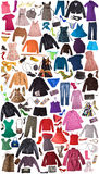 Clothes - Fashion Background Royalty Free Stock Photos