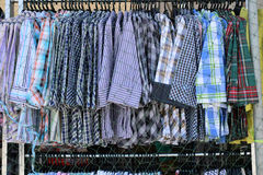 Clothes fashion is hanging clothesline in shop wear. Royalty Free Stock Photography