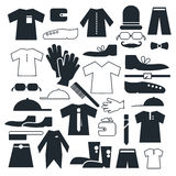 Clothes - Fashion Vector Flat Icons Stock Photo