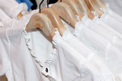 Clothes on a hanger Royalty Free Stock Photos