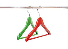Clothes hanger. On white background Royalty Free Stock Photos
